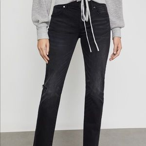 BCBGMAXAZRIA Black Distressed Jeans